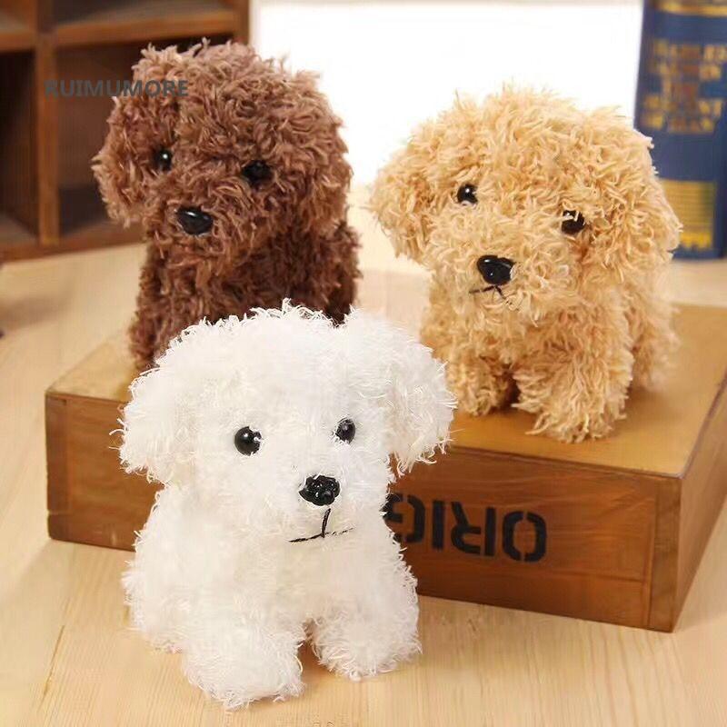 Quality 3Colors - Dog Plush Toys - 10CM height , Kid's Gift Plush Stuffed Dog toys , key chain Dog Plush dolls