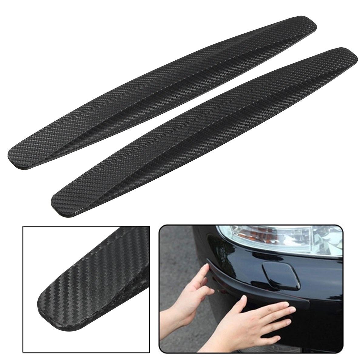 2 uds. De Protector Universal de fibra de carbono para coches, barras protectoras para esquinas de carrocería, Protector de parachoques