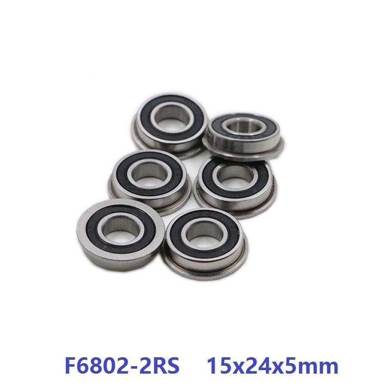 100 قطعة/الوحدة F6802-2RS F6802RS F6802 2RS RS 15x24x5 مللي متر شفة كرة أخدود عميقة تحمل 15*24*5