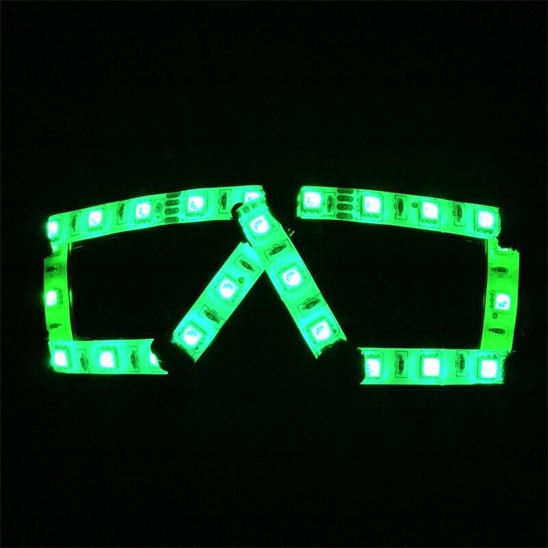 Wecool transparente Óculos Flash LED Controle Remoto levou óculos máscara do partido para fontes do partido