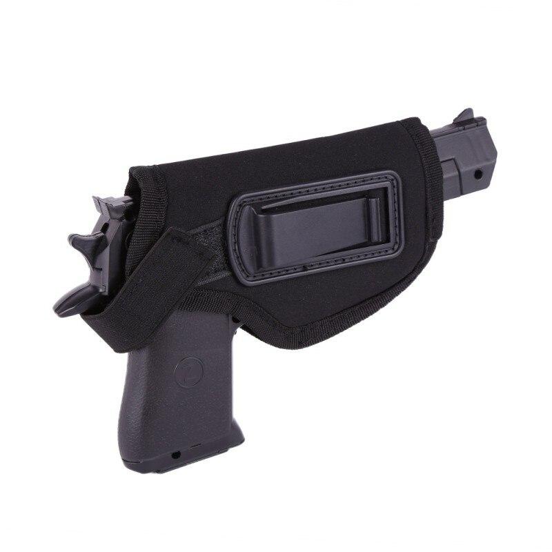 Accesorios de caza pistolera negra espuma de poliestireno EVA con Clips de Metal funda de cintura táctica oculta agradable duradera para mano derecha