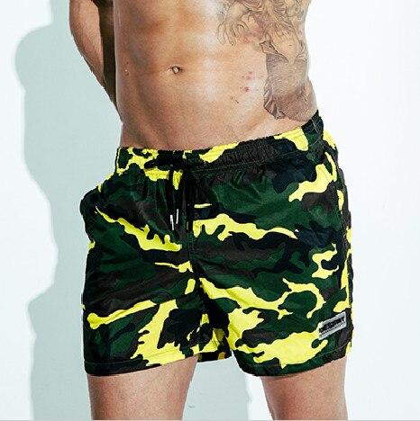 Камуфляжные плавки Desmiit, мужские шорты для плавания, быстросохнущие шорты для серфинга с подкладкой