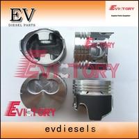 4LE1 engine rebuild kit 4LE1 piston+piston ring+liner+overhaul gasket+bearing For Sumitomo SH55 Excavator