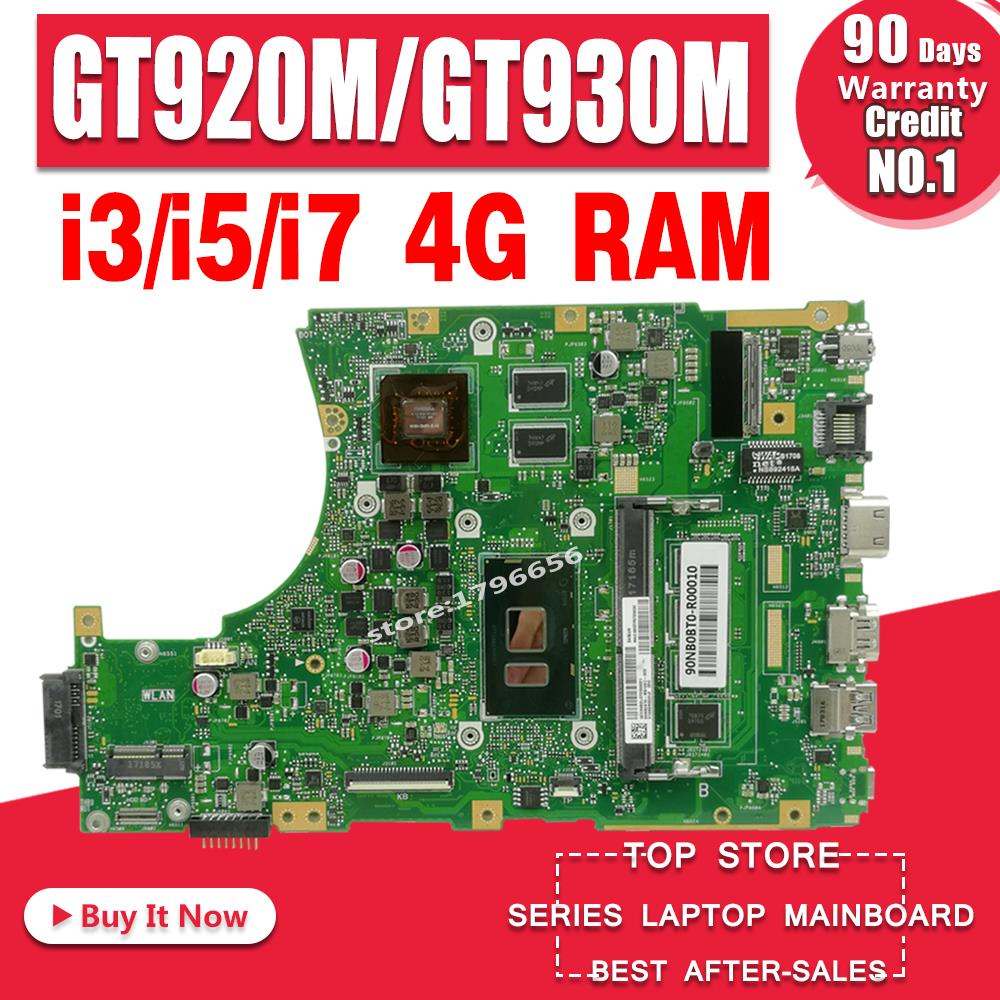 Motherboard para For Asus X456uq X456ub A456u Laptop Mainboard 4g Ram Gt920m – Gt930m i3 i5 i7 X456u X456uj X456uf X456ur