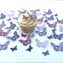 Décoration de gâteau en forme de gaufrette   Papier alimentaire pre-coupé, décoration didée de gâteau de mariage, décoration de cupcake
