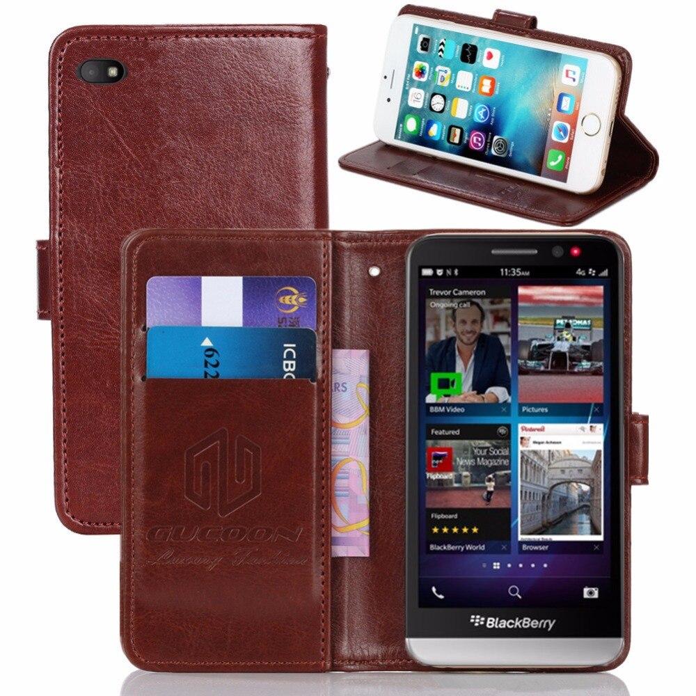 Винтажный чехол-бумажник GUCOON для BlackBerry Z30, 5,0 дюйма, флип-чехол из искусственной кожи в стиле ретро, стильные магнитные чехлы с подставкой и ремешком
