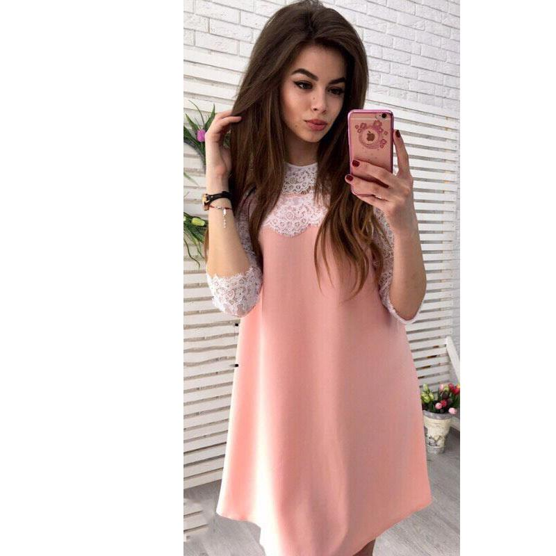Vestido de playa para mujer, vestido de verano para mujer, vestido de encaje para fiesta de oficina, ropa de verano 2019 LJ9354V