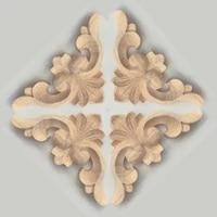 1pc decorative unpainted wood carved corner onlay applique frame for furniture cabinet door flower wood carving figurines