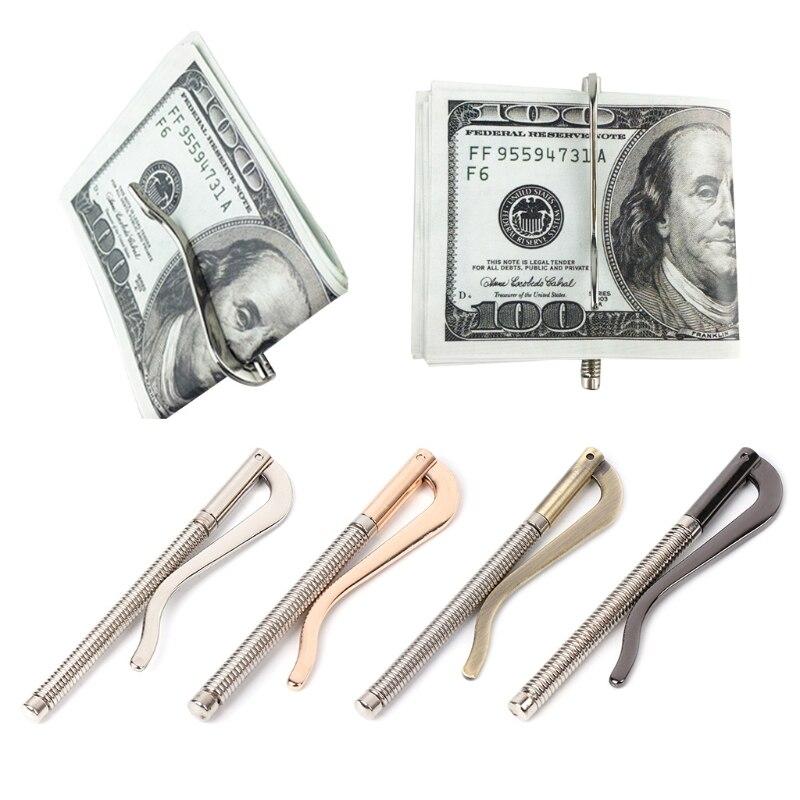 Металлический двойной зажим для денег, кошелек, запасные части, пружинный зажим, держатель для наличных денег, высокое качество, 8x1,5 см, черный, серебристый, бронзовый, золотые подарки