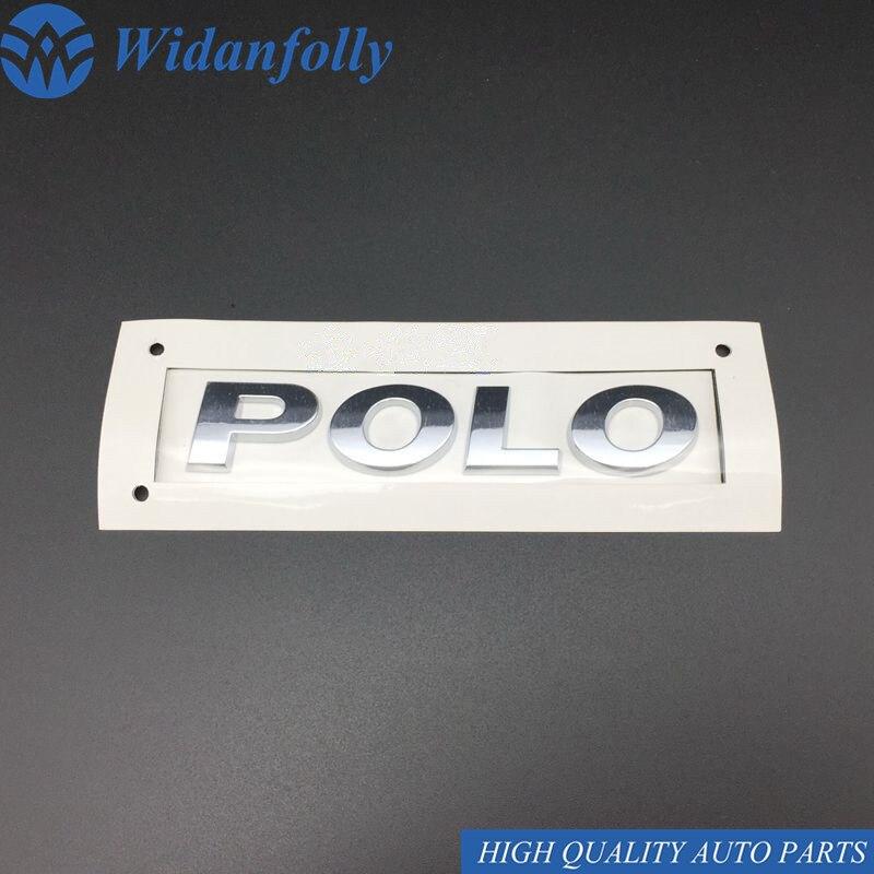 Logotipo de POLO de cromo plateado de Widanfolly 2011-2018 tapa trasera del maletero pegatina de la letra del alfabeto emblema del carácter 6RD 853 675 A