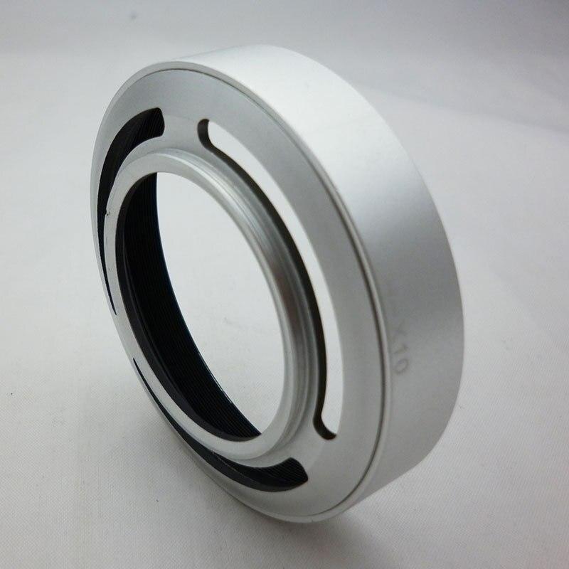 LH-JX10 X10 parasol de lentes de Metal 52mm de Metal anillo adaptador de filtro para Fujifilm FinePix X10 X20 X30