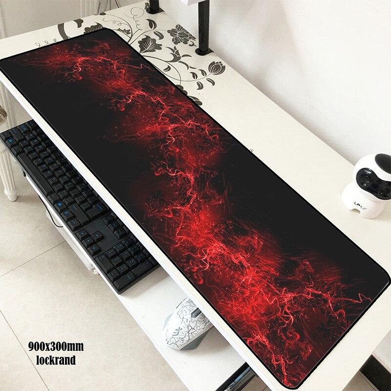 Alfombrilla de ratón rojo abstracto para gamer 900x300x3mm, alfombrilla de ratón para gaming, mejores accesorios de ordenador portátil, regalos de Navidad, alfombrillas ergonómicas para padmouse