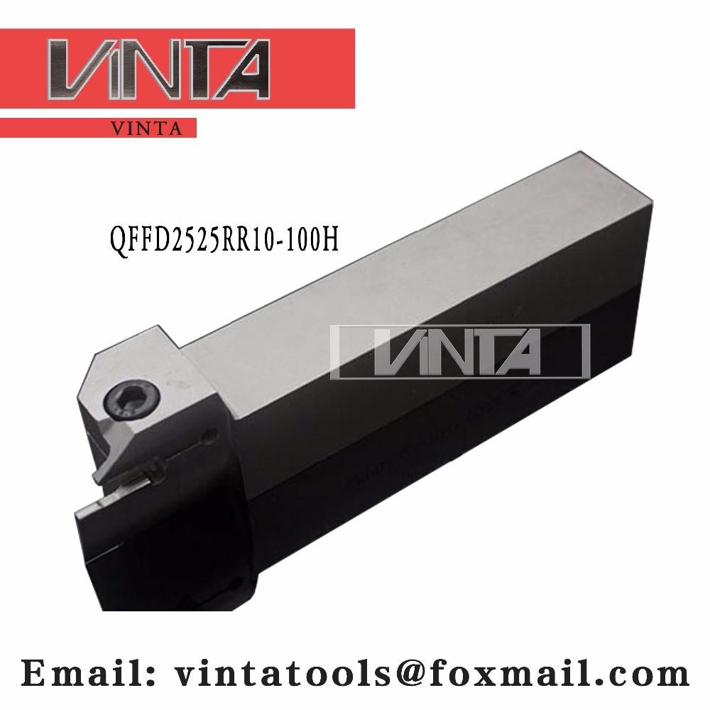 شحن مجاني QFFD2525R10-100H cnc أدوات القطع سطح الحز أداة حامل يقابل إدراج ZTFD0303-MG مع نوعية جيدة
