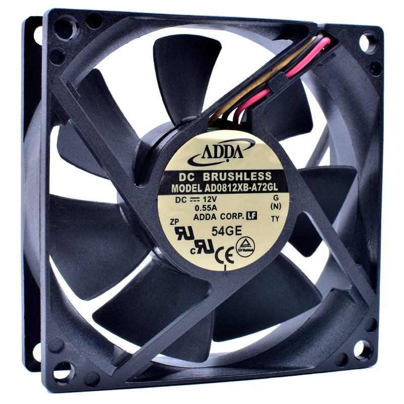 Brand new original AD0812XB-A72GL 8cm 8025 80x80x25mm DC12V 0.55A Computer power CPU large air volume cooling fan