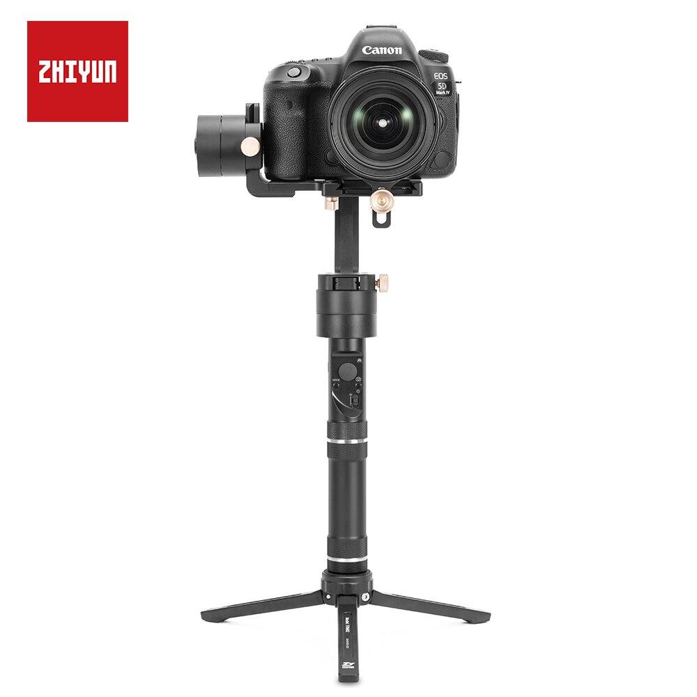 Zhiyun guindaste mais estabilizador 3-axis equilíbrio rápido motorizado cardan para câmera mirrorless dslr, suporte 2.5 kg pov modo handheld