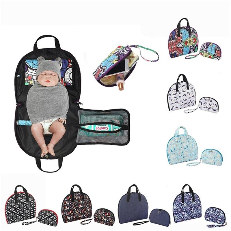 Multi-función de bebé almohadilla de aislamiento bolsa de pañales momia bolsa impermeable bolsa de pañales conveniente infantil y materna suministros