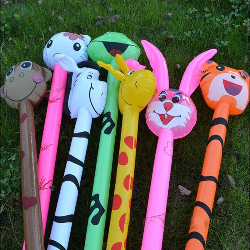 Envío Gratis, 20 piezas inflable de dibujos animados, Animal largo, martillo inflable, arma sin tierra, palo, juguetes para niños