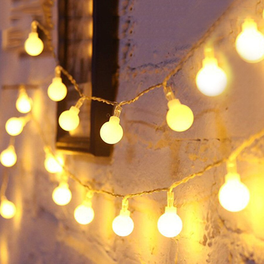 Thrisdar 10 m 20 30 m 50 m globo bola led luz de fadas corda jardim ao ar livre festa natal feriado globo festão fada luz