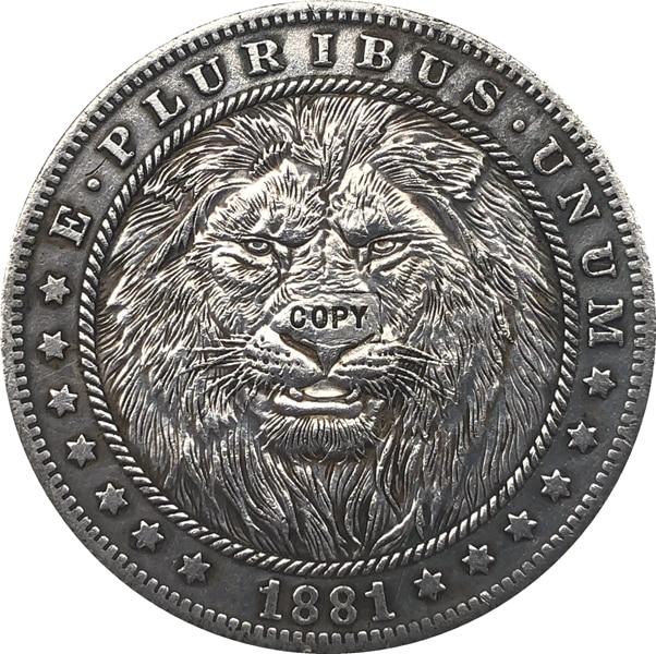 Hobo níquel 1881-CC dólar Morgan de EUA copia de moneda tipo 117