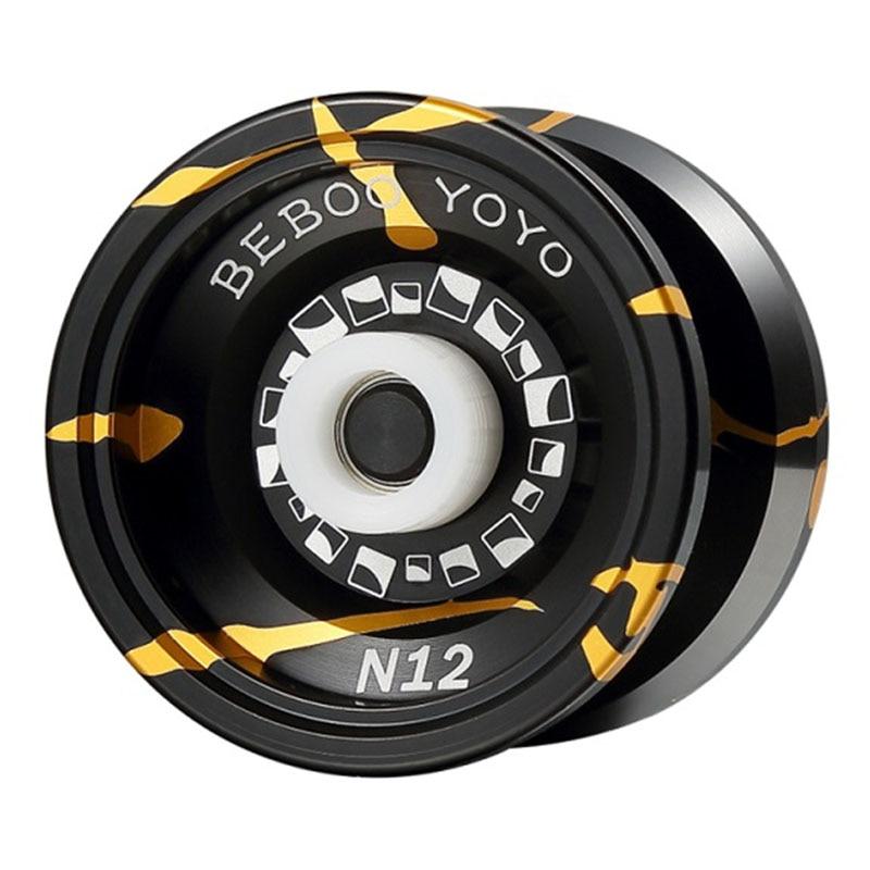 Metalen Yoyo Professionele Yoyo Set Yo Yo + Handschoen + 5 Strings N12 Jojo Hoge Kwaliteit Legering Yoyo klassieke Speelgoed Diabolo Gift Kinderen Speelgoed