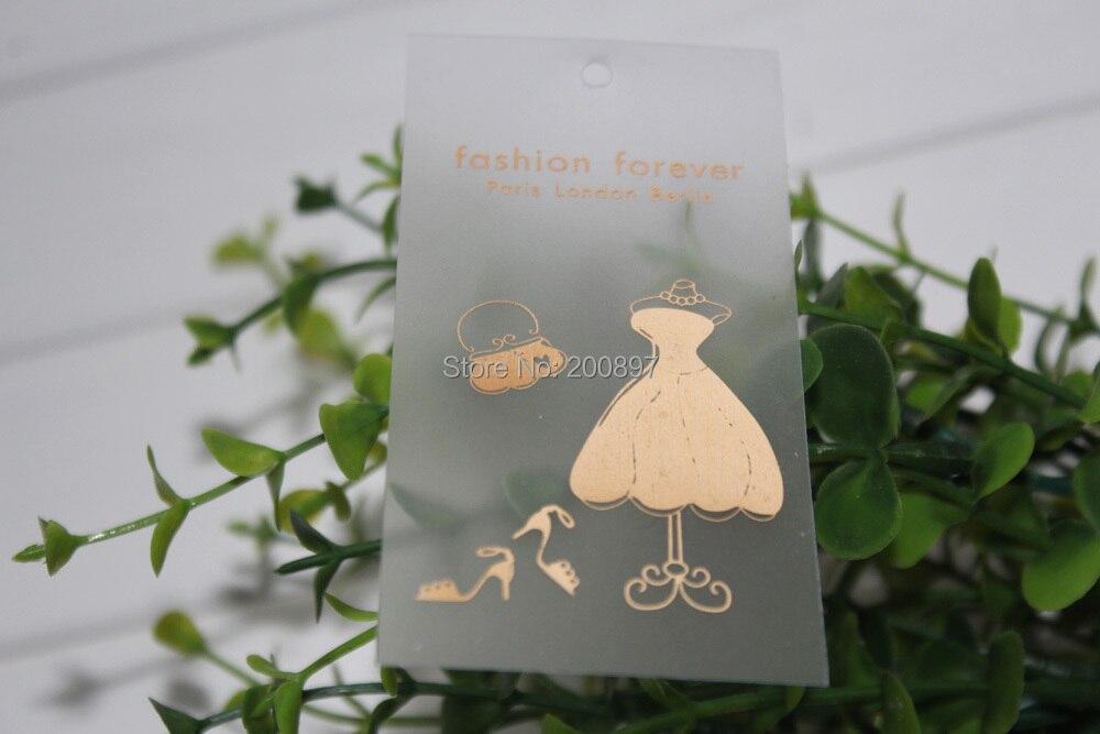 custom transparent pvc swing Tag printed plastic garment hanging tag 1000pcs/lot