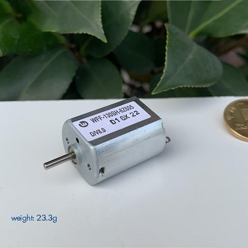 FF-130SH-8Z605 DC juguete Micro Motor 12 V 24 V bajo consumo de energía silencioso plano Micro Motor USB pequeño eje del Motor 2mm de diámetro