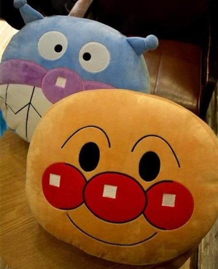Candice guo Peluche de juguete de peluche muñeca de dibujos animados anime Anpanman Baikinman sofá cojín cálido almohada creativo bebé chico Regalo de Cumpleaños 1 pc