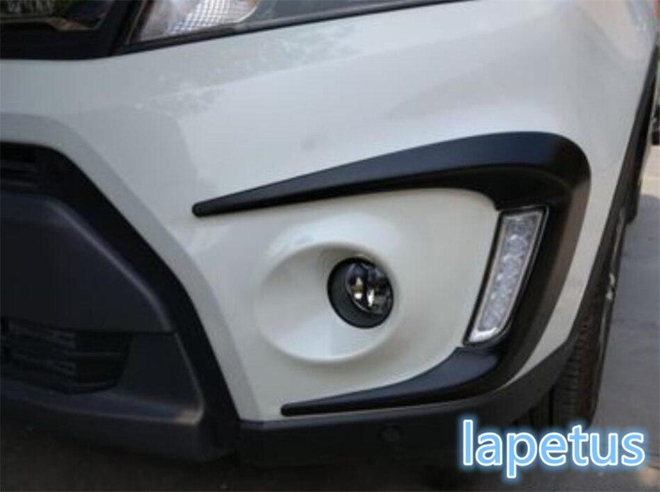 Lapetus Front Head Fog Lamp Lights Eyelid Eyebrow Protector Scuff Cover Trim Fit For Suzuki Vitara Escudo 2015 2016 2017 2018