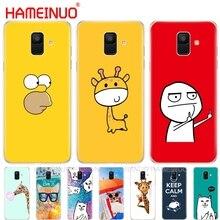 Komik sevimli moda tasarımı kapak telefon samsung kılıfı Galaxy J4 J6 J8 A9 A7 2018 A6 A8 2018 ARTı j7 duo