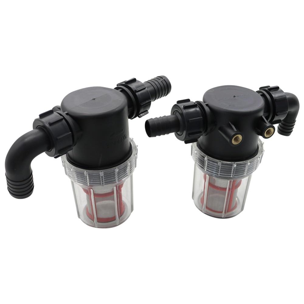 50 Filtro de flujo grande de malla de 20mm, 25mm de púa para irrigación agrícola, drenaje de plomería, filtro Visible, tubería de riego de césped, prefiltro