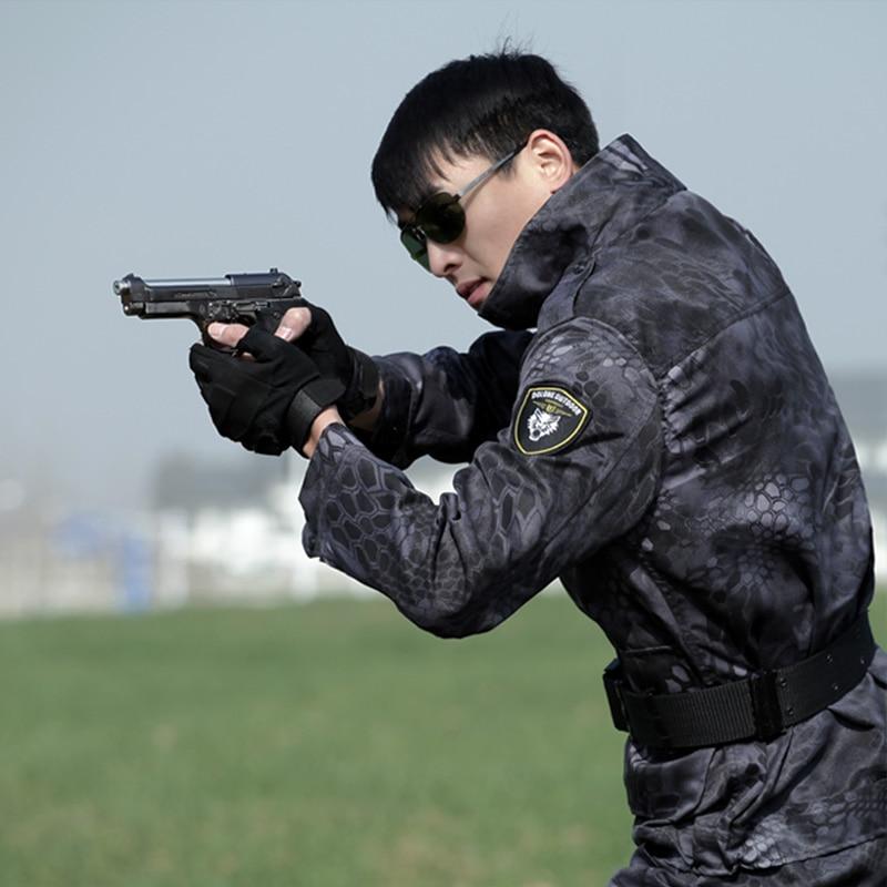 Chaqueta táctica Militar de pitón negro para hombre, chaqueta de combate Tatico para hombre, chaqueta Militar de ejército de camuflaje, ropa CS