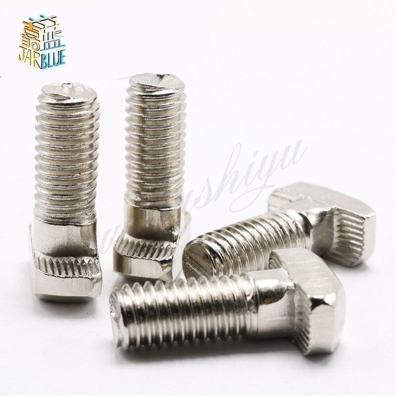 5 stücke 4040/4545 Serie M8 Hammer Kopf T Bolzen Schraube Vernickelt Für 4040/4545 Aluminium Profil T-slot M8 * 16/12/16/20-45mm