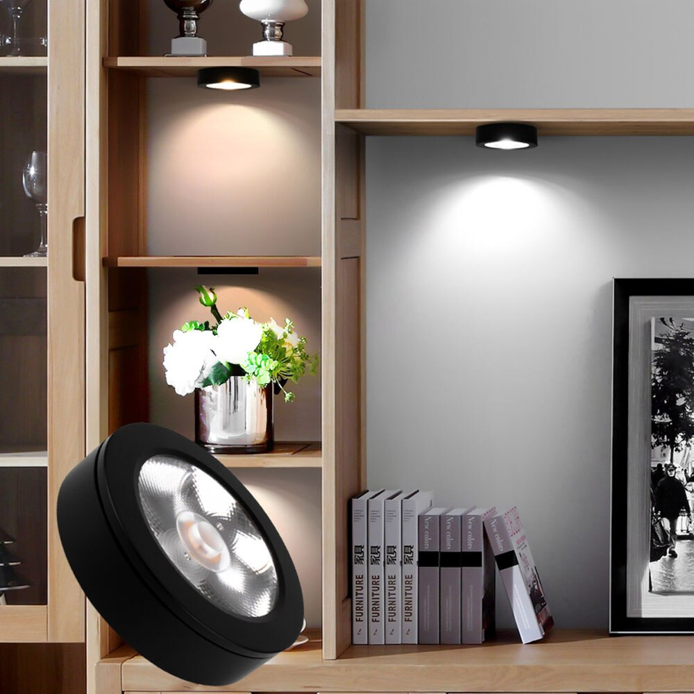 Luz descendente LED regulable, 3W, 5W, 7W, 10W, 15w, Ultra delgada, montada en superficie, foco led para lámpara cob sin conductor AC220V, 230V