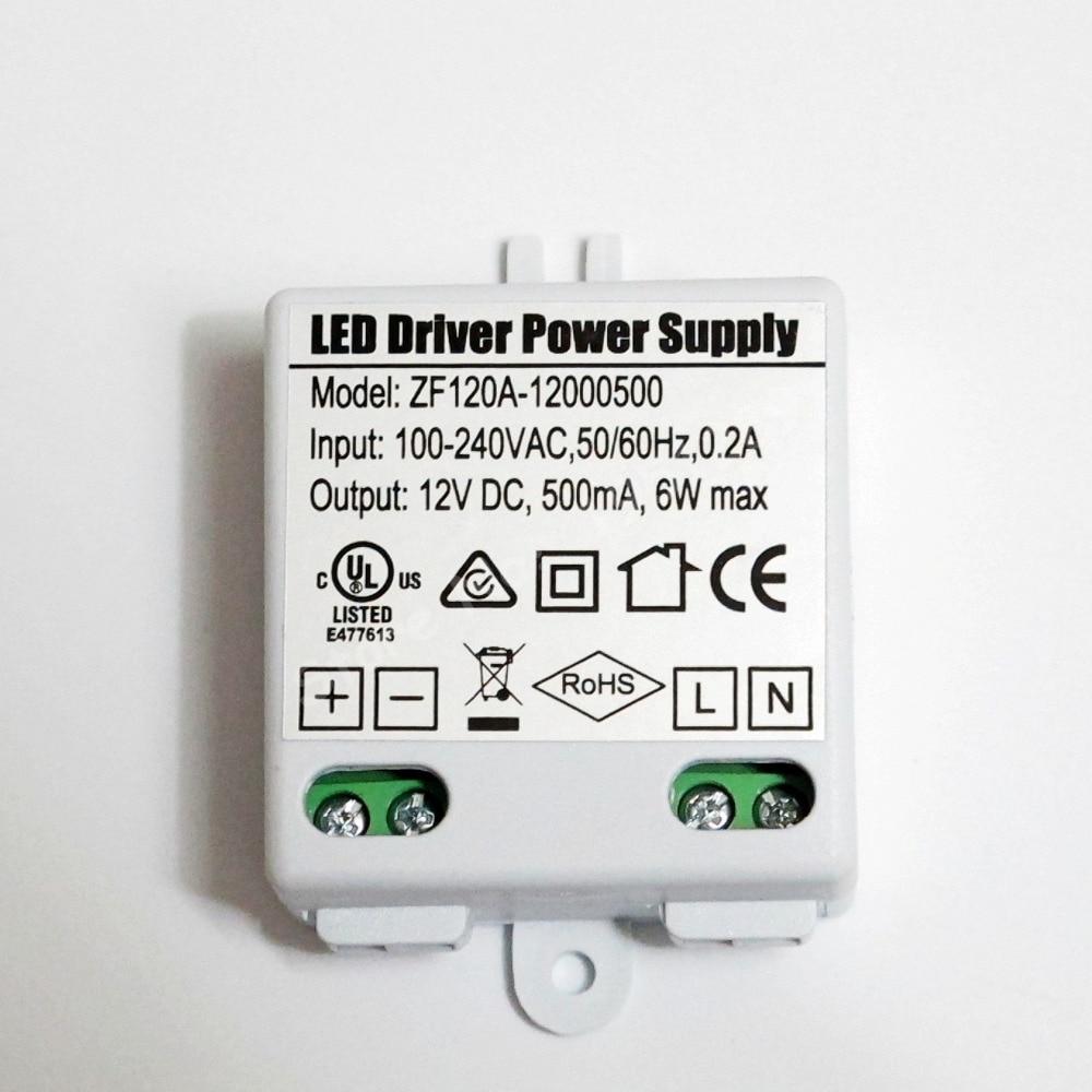6 Вт 500мА MR16 MR11 Светодиодный драйвер AC/DC адаптер трансформатор Вход AC 100 в-240 в выход DC 12 В для светодиодного прожектора и светодиодной ленты