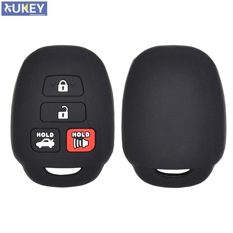 4 botón de control remoto de coche funda carcasa para Toyota Camry Tacoma Corolla RAV4 Vios Prius C Highlander 2012-2020