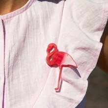 Mignon acrylique Flamingo Broches pour femmes broche broche oiseau Animal Broches mode robe manteau accessoires Broches broche femme bijoux