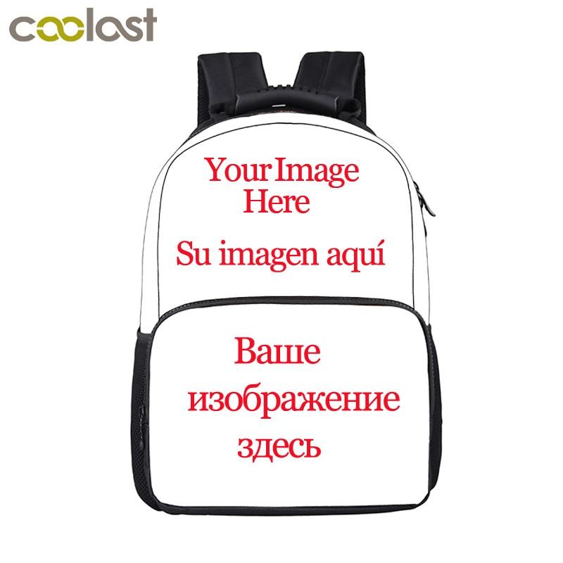 Customize Your Name Logo Image Backpack For Teenage Men Women Travel Bags Children School Bags Backpack Kids Book Bag Gift Bag