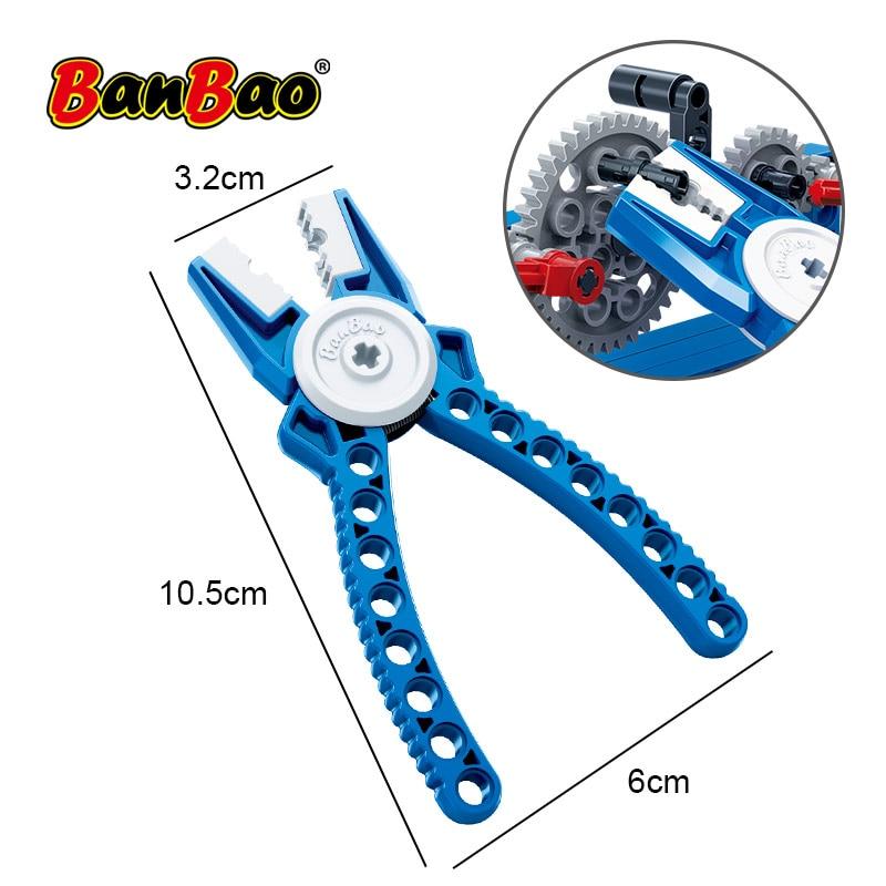 Alicates de broche BanBao DIY, pinzas técnicas, piezas de herramientas, bloques de construcción educativos, juguetes, kits de elementos compatibles con todas las marcas