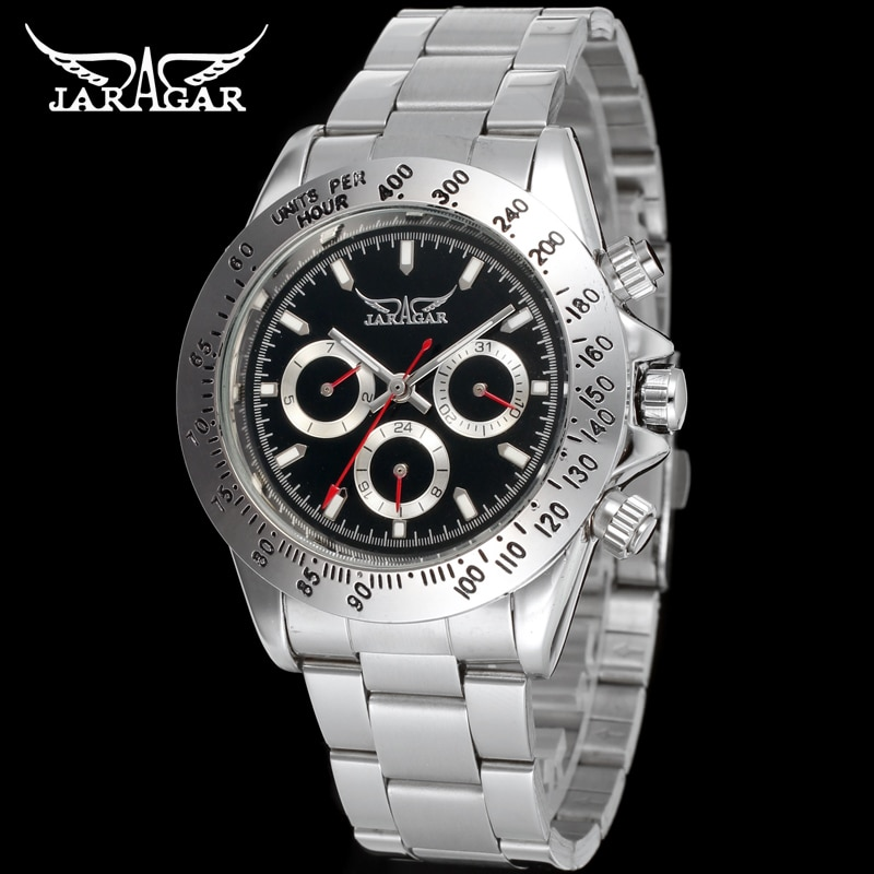 JAG6903M4S1  new popular Jargar  Automatic men watch factory stainless steel band best price free shipping with  gift box