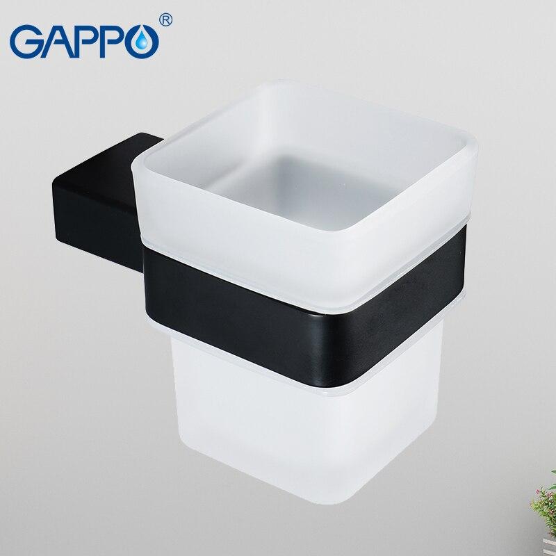 GAPPO كوب بهلوان الحائط اكسسوارات الحمام حامل الكأس الحمام فرشاة كأس حاملي