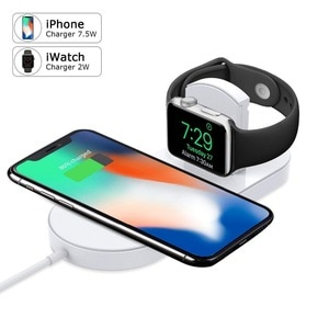 Tradexert Wireless Charger for Phone and Apple Watch Ultra-thin 2 in 1 Charging Pad Stand Compatible for with for iPhone Xs