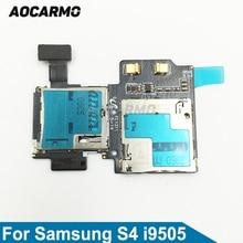Aocarmo SD Sim kart okuyucu Tutucu Yuvası Flex Kablo Şerit Samsung Galaxy S4 GT i9505