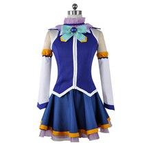 ¡Anime nuevo Kono Subarashii Sekai ni Shukufuku wo! Cosplay disfraces Aqua vestido de Cosplay Kazuma Satou uniforme megumin