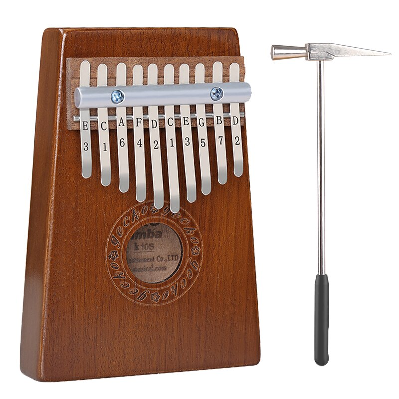 GECKO קלימבה 10 מפתחות אגודל פסנתר builts כוונון פטיש, ללמוד הוראה ובד תיק K10S