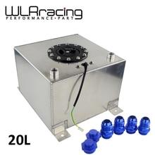 WLR RACING - 20L Aluminum Fuel Surge tank with sensor  Fuel cell 20L with cap/ foam inside WLR- TK39