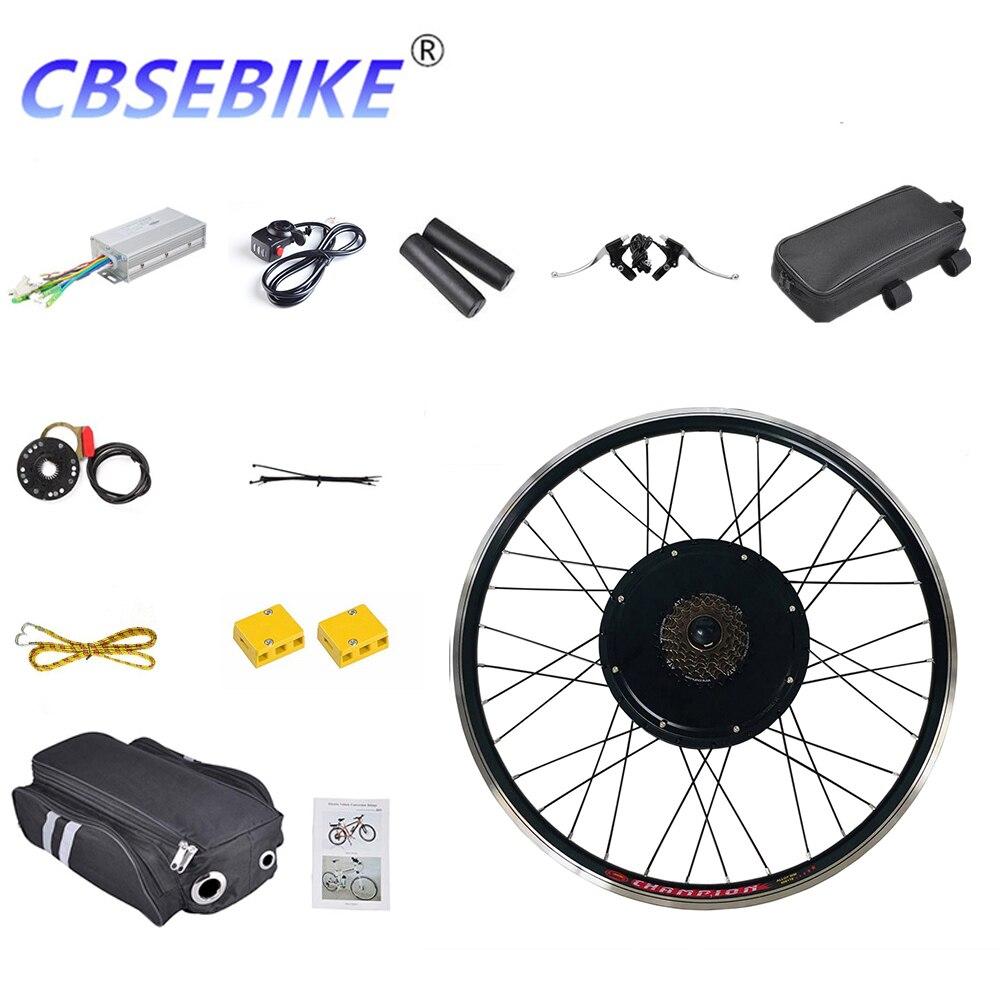 CBSEBIKE Kit de conversión de bicicleta eléctrica de 26 pulgadas 48v1000w EBike trasera rueda de bicicleta de Motor HA02-26 HA03-26 HB01-26