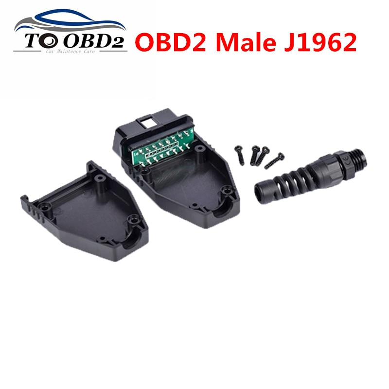 OBD штекер OBD2 16Pin разъем адаптер OBD II OBDII разъем J1962 OBD2 разъем с PCB и без PCB