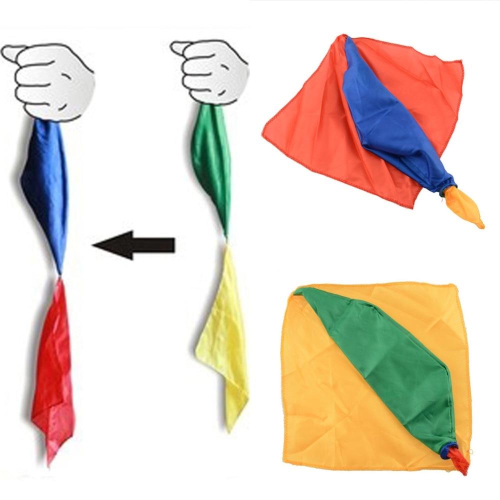 Магический трюк от г-на фокуса, реквизит для шутки 22 см * 22 см, инструменты, принадлежности для волшебника, игрушки, меняющий цвет, шелковый шарф, подарки для детей