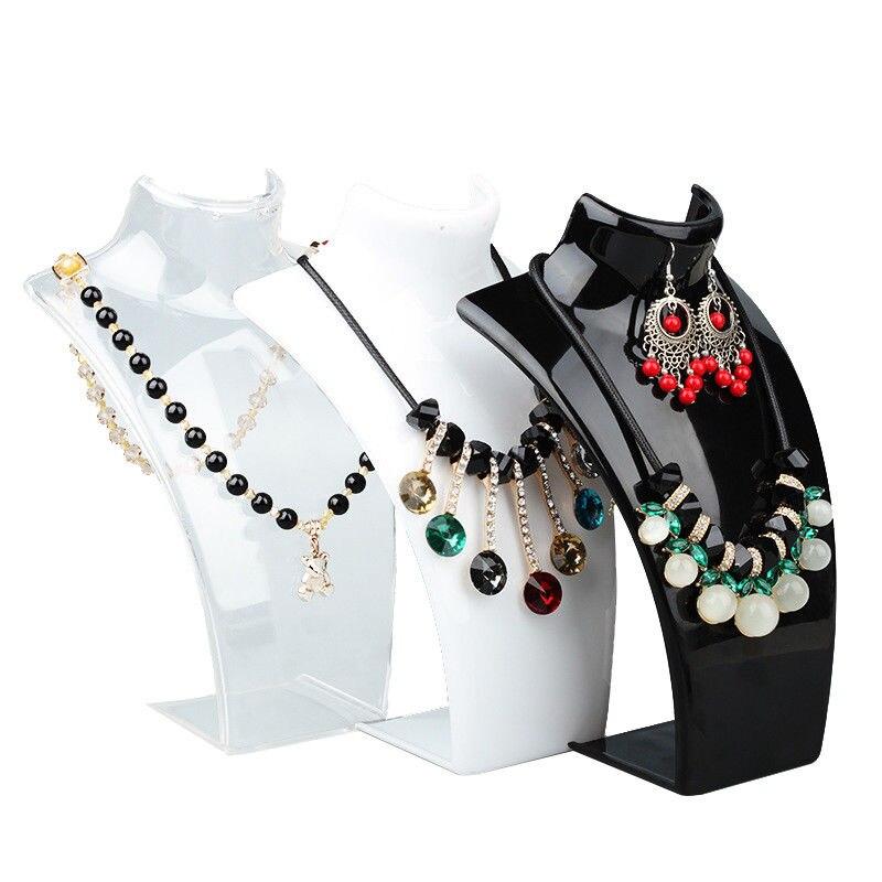 Collar con pendiente de maniquí en tres colores de 20x13,5x6cm, exhibición de colgantes y joyas, soporte para exposición al por menor