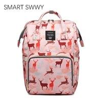 luxury designer brand women backpack bags for ladies large oxford waterproof rucksack mom travel backbag pink babysitter bags